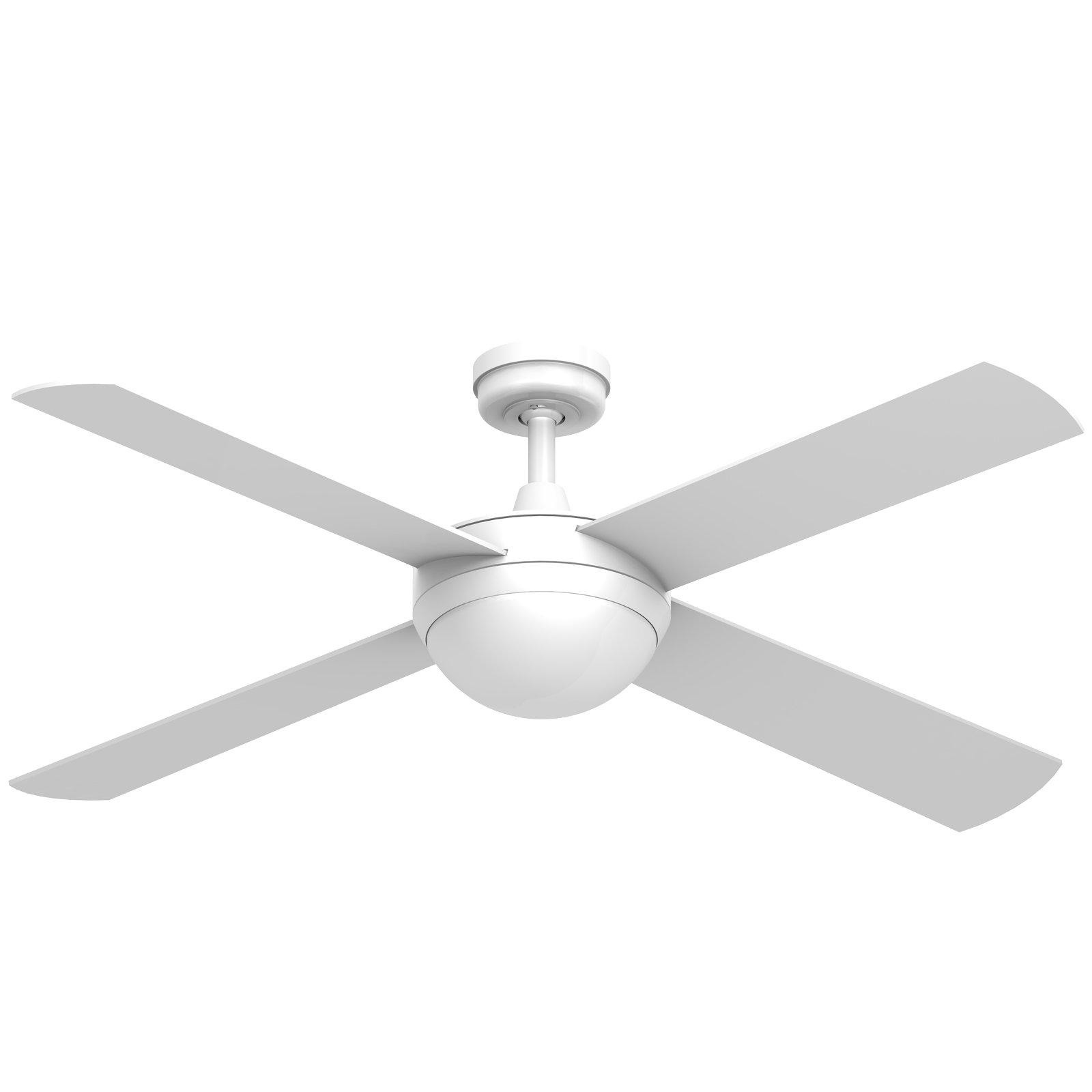 Ceiling fans electriciansupplies electriciansupplies hunter pacific intercept 2 white led fan light mozeypictures Choice Image