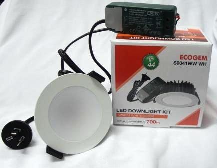 LED SAL ECOGEM 10W 700 Lumens WARM WHITE DownlightSatin Nickel S9041 WW SN